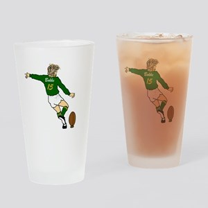 Springbok Rugby Fullback Drinking Glass