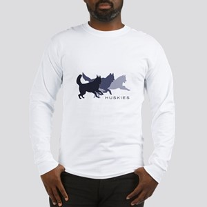 Running Huskies Long Sleeve T-Shirt