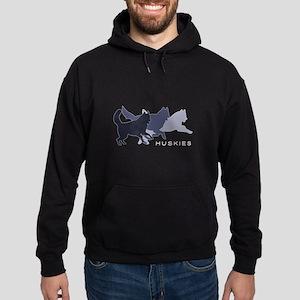 Running Huskies Hoodie (dark)