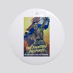 Fighting Filipinos WWII Ornament (Round)