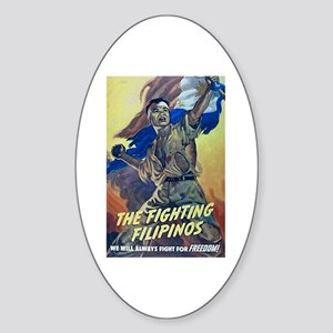 Fighting Filipinos WWII Oval Sticker