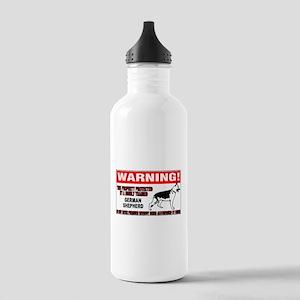 German Shepherd Warning Stainless Water Bottle 1.0