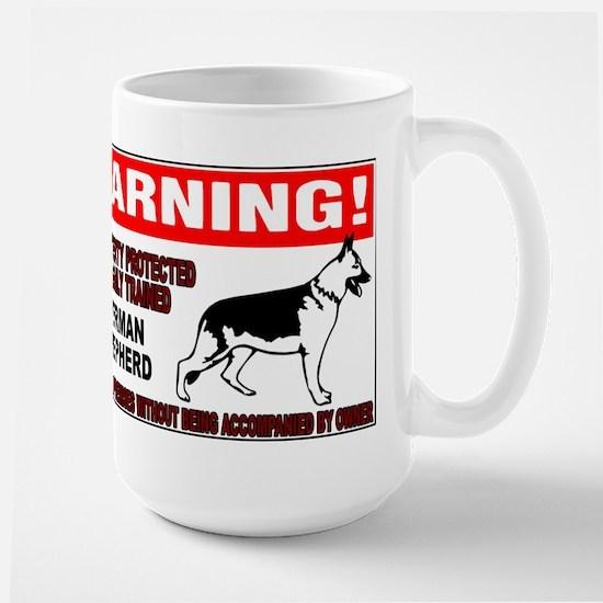 German Shepherd Warning Large Mug