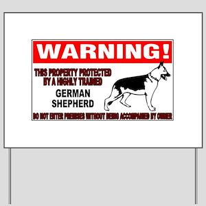 German Shepherd Warning Yard Sign