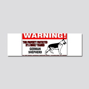 German Shepherd Warning Car Magnet 10 x 3