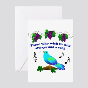 Bluebird of happiness greeting cards cafepress singing bluebird greeting card m4hsunfo