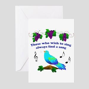 Singing Bluebird Greeting Cards (Pk of 10)
