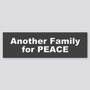 family for peace... Bumper Sticker