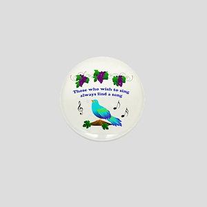 Singing Bluebird Mini Button
