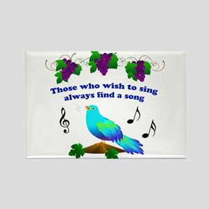 Singing Bluebird Rectangle Magnet