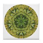 Banana Mandala Tile Coaster