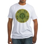 Banana Mandala Fitted T-Shirt