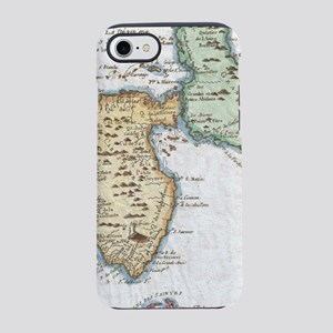 Vintage Map of Guadeloupe (178 iPhone 7 Tough Case