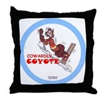 """""""Cowardly Coyote"""" Throw Pillow"""