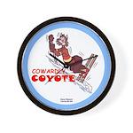 """Cowardly Coyote"" Wall Clock"