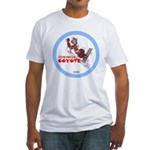 """""""Cowardly Coyote"""" Fitted T-Shirt"""