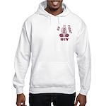 Burgundy WIN Ribbon Hooded Sweatshirt