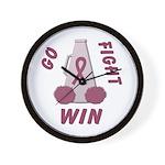 Burgundy WIN Ribbon Wall Clock