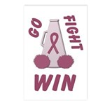 Burgundy WIN Ribbon Postcards (Package of 8)
