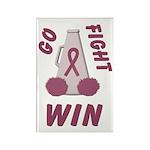 Burgundy WIN Ribbon Rectangle Magnet (10 pack)