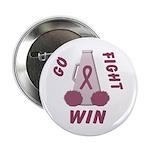 Burgundy WIN Ribbon Button