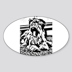TEENAGE BRIARD Oval Sticker