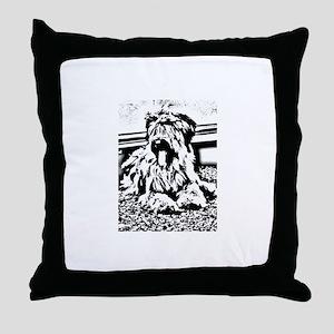 TEENAGE BRIARD Throw Pillow