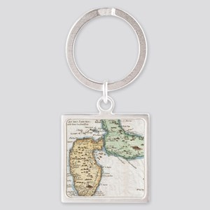 Vintage Map of Guadeloupe (1780) Keychains