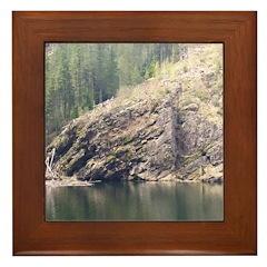 Rocky Mountain Pond Framed Tile