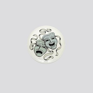 Vintage Comedy Tragedy Mask Mini Button