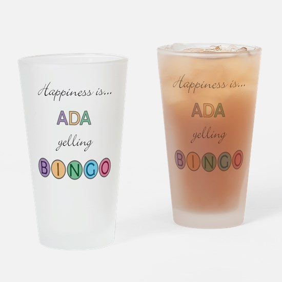 Ada BINGO Drinking Glass