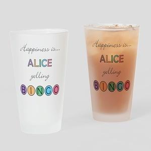 Alice BINGO Drinking Glass