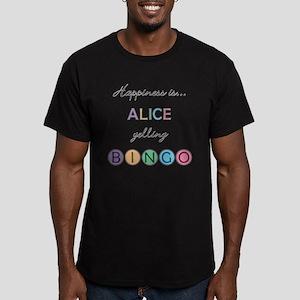 Alice BINGO Men's Fitted T-Shirt (dark)