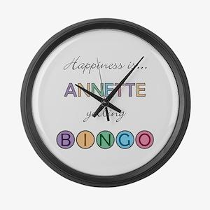 Annette BINGO Large Wall Clock