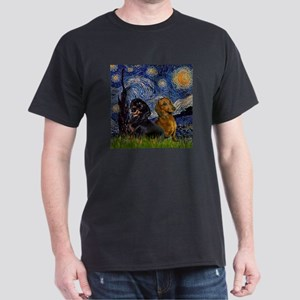 TILE-Starry-DachsPair T-Shirt