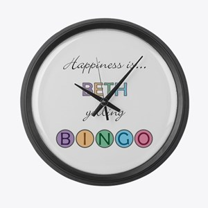 Beth BINGO Large Wall Clock