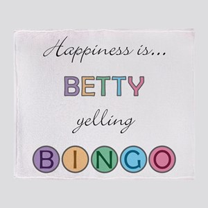 Betty BINGO Throw Blanket