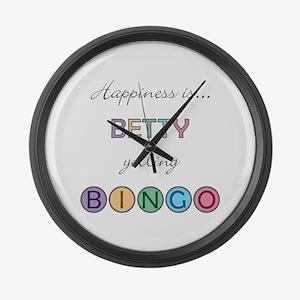 Betty BINGO Large Wall Clock