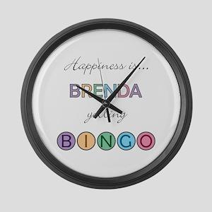 Brenda BINGO Large Wall Clock