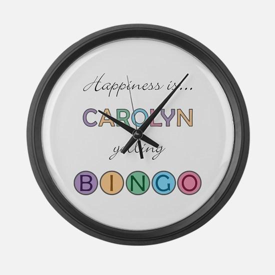 Carolyn BINGO Large Wall Clock