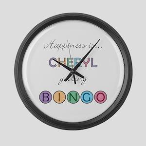 Cheryl BINGO Large Wall Clock