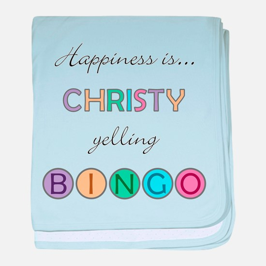 Christy BINGO baby blanket