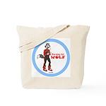"""Warming Hut Wolf"" Tote Bag"