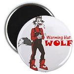 """""""Warming Hut Wolf"""" Magnet"""