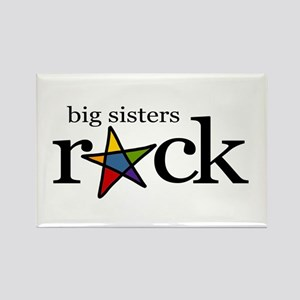 big sisters rock (star) Rectangle Magnet