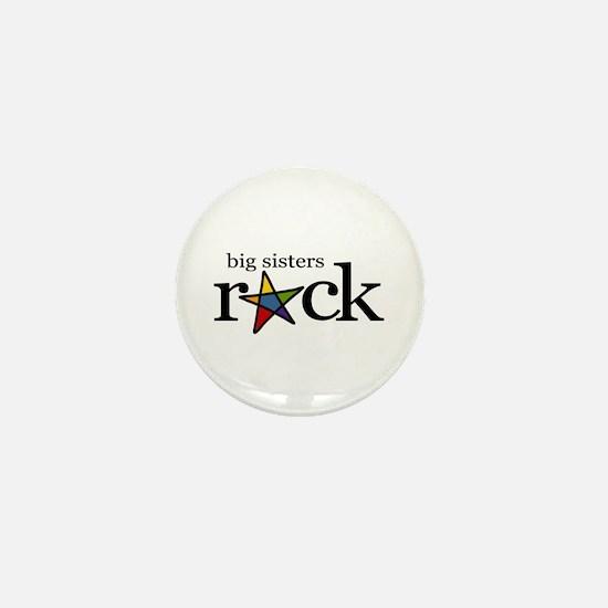 big sisters rock (star) Mini Button