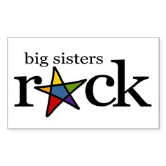 big sisters rock (star) Rectangle Decal