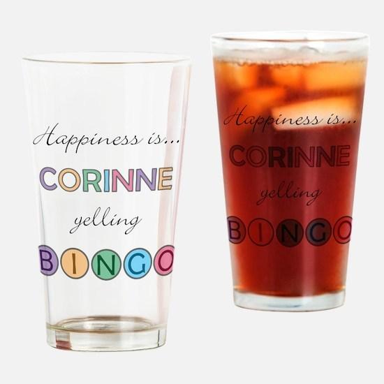 Corinne BINGO Drinking Glass