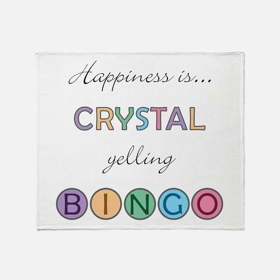 Crystal BINGO Throw Blanket