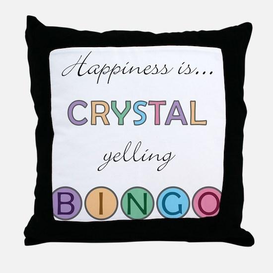 Crystal BINGO Throw Pillow